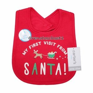 Carter's Baby's First Santa Visit Holiday Bib